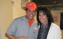 Alice Cooper, backstage before performing at his charity Solid Rock