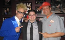 Eric Dittelman, backstage with AGT semi-finalist 2012