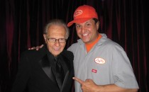 Larry King, backstage at The Larry King Cardiac Foundation Gala