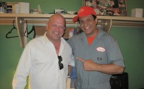 Rick Harrison, from the hit TV show Pawn Stars, backstage after a performance