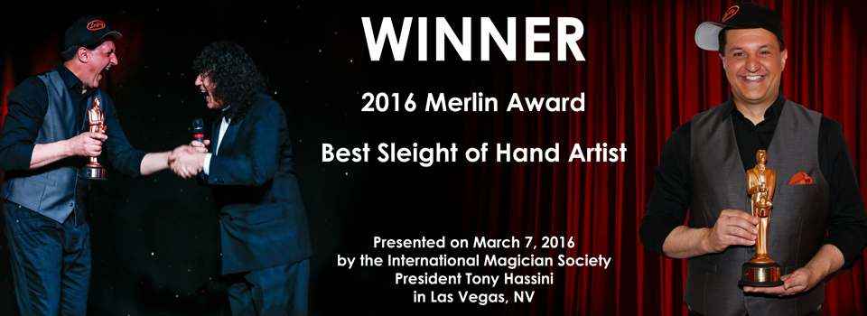 2016 Merlin Award – Best Sleight of Hand Artist