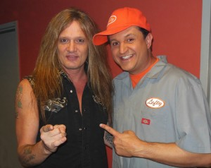 Sebastian Bach. lead singer from Skid Row